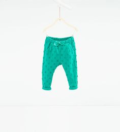 Polka dot jacquard trousers-LEGGINGS AND TROUSERS-BABY GIRL | 3 months-3 years-KIDS | ZARA United States