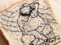 Puntadas en pan recreando obras de #fernandobotero   #bordado #bordadocreativo #embroidery #embroideryart #bread Ethical Fashion, Food, Fernando Botero, Creativity, Needlepoint, Women, Sustainable Fashion, Essen, Meals