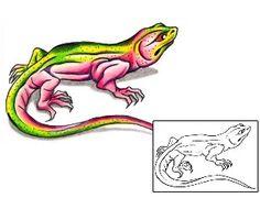 Show details for Lizard Tattoo Reptiles & Amphibians tattoo | G1F-01263