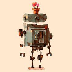 Arte Robot, Photoshop, Hiding Places, Weird Art, Deviantart, Kind Words, Betta, Cool Art, Art Drawings
