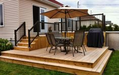 39 Creative Deck Patio Design You Should Try For Your Outdoor Space Pergola Shade, Pergola Patio, Backyard Patio, Pergola Kits, Pergola Ideas, Backyard Shade, Small Backyard Decks, Corner Pergola, Patio Bar