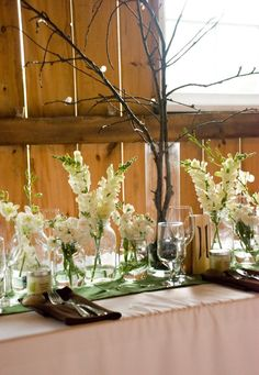 Center pieces with branches just cause Toni likes them!!!