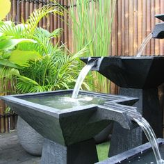 installer une fontaine de jardin moderne yard fountains pinterest fountain - Fontaine De Jardin Moderne