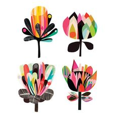 You won't be a wallflower when you rock this set of temporary tattoos by Inaluxe and Tattly. They've created a modern twist on floral bouquets. Scandinavian Folk Art, Arte Floral, Grafik Design, Bird Art, Graphic, Art Images, Flower Art, Cool Art, Art Projects