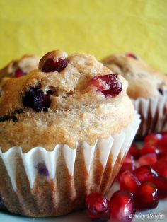 Pomegranate Ginger Muffins #breakfast