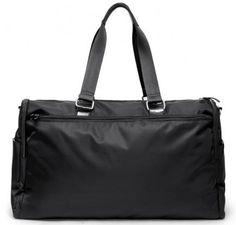 "OOYOO diaper bag ""Labor of Love"" black noir large duffel - back view"