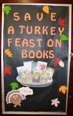 Save a Turkey! Feast on Books! [November 2015] #mhslmc #school #library…