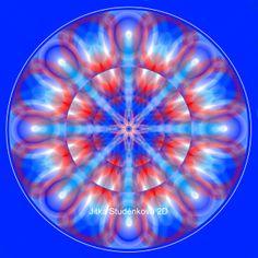 Mandala č.10 - K narození chlapce Mandala pro skvělý start do života pro miminka-chlapce: modrá-mužská energie  bílá - čistota   červená-energičnost a zdravá agresivita Doporučuju pověsit nad postýlku. počítačová grafika, rozměr 30x30 cm, laminováno jako ochrana proti UV záření dodáváno bez vodoznaku