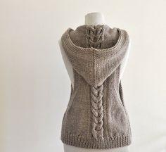 Chaleco de suéter con capucha chaleco suéter por reflectionsbyds
