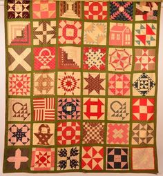 """""""Marriage Presentation Quilt""""....has an embroidered Quilt Square with wedding gift embroidery. Dated Sept. 28,1892."""