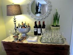 how to set up a wine bar at home | Entertaining | How to Set Up a Bar | Holiday Cocktail Party | Bar Tips ...