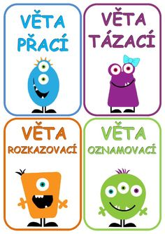 Hlasovací kartičky - druhy vět.docx: Primary Teaching, Primary School, Teaching Ideas, Funny Kids, Montessori, Homeschool, Language, Classroom, Education