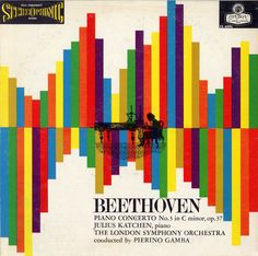 1958 Beethoven Piano Concerto No. 3 in C Minor op. 37 [London Records catalogue no. Cd Album Covers, Music Covers, Book Covers, Music Illustration, Album Cover Design, Layout, Cover Art, Lp Cover, Vinyl Cover