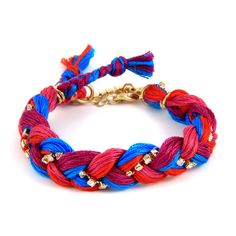 Firework Friendship Thread Braided Bracelet