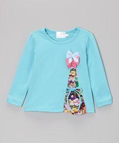 Another great find on #zulily! Turquoise Bow Tee - Toddler & Girls by Blossom Couture #zulilyfinds