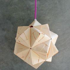 #ludorn #lamp #byludorn #folding #paper #sonobelamp #sonobeball #origami #germaninteriorbloggers