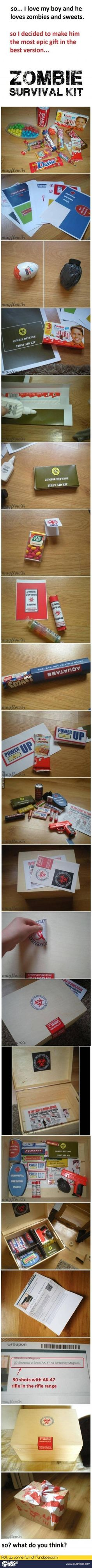 Most epic Zombie survival Candy Kit