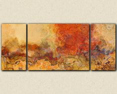 Extra large triptych abstract art 30x72 to 40x90 by FinnellFineArt, $425.00