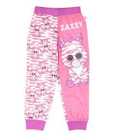 Look what I found on #zulily! Pink Beanie Boo Zazzy Pajama Bottoms - Girls…