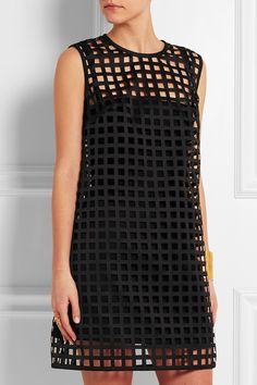 Versace | Mini-robe en satin découpée au laser | NET-A-PORTER.COM