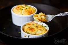 Potato Soufflé... @homecookingadv shows how to make it, and I bet this is super comforting on a chilly day! /ES