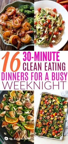 16 30 Minute Clean Eating Dinners For a Busy Weeknight You have been blocked from seeing ads. 16 30 Minute Clean Eating Dinners For a Busy Weeknight 30 Minute Dinners, Clean Dinners, Simple Clean Meals, Food Dinners, Clean Eating Recipes For Dinner, Clean Eating Snacks, Eating Healthy, Tasty Healthy Meals, Healthy 30 Minute Meals