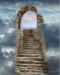 """Bartow - Treasures of the Deep """"Narrow is the gate and difficult the way which leads to life. Art Visionnaire, Heaven's Gate, Prophetic Art, A Course In Miracles, Stairway To Heaven, Christian Art, Heaven On Earth, Celestial, Doorway"""