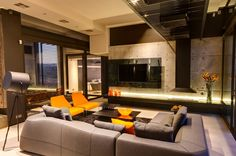 Nico van der Meulen Architects has sent us their last project: House Boz located in Pretoria, South Africa. House Boz is a spacious and luxurious four bedroom steel , glass and concrete residence… Living Room Modern, Living Room Designs, Living Area, Home Design, Home Interior Design, Interior Decorating, Decorating Ideas, African Living Rooms, Fireplace Remodel
