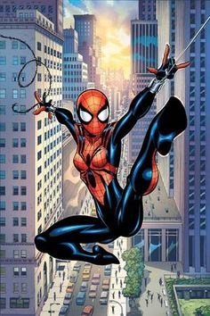 "The official Marvel page for Spider-Girl (May ""Mayday"" Parker). Learn all about Spider-Girl both on screen and in comics! Ultimate Spider Man, Comic Book Characters, Comic Character, Comic Books, Spider Girl, Spider Women, Children's Comics, Comics Girls, Image Comics"