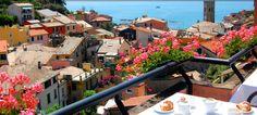 View from Hotel Villa Steno in Monterosso al Mare, Cinque Terre, Italy. Thank you Karla, Mateo and Anna!