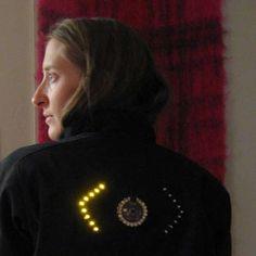 DIY turn signal biking jacket