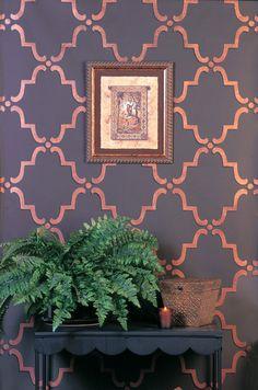 Moroccan Wall Stencils & Floor Stencils for Painting   Royal Design Studio - moorish trellis stencil on the ceiling! what?! :o <3