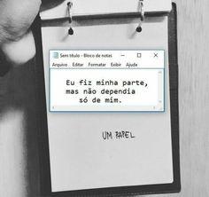 Amor, não so depende de uma pessoa