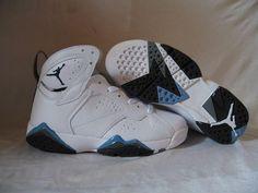 503c40cbf35 Air Jordan Retro 7 Retro White French Blue Flint Grey. Jordan 7 ShoesJordan  Basketball ...