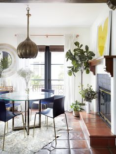 beautifully styled dining room