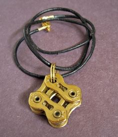 Bike Chain Pendant Necklace