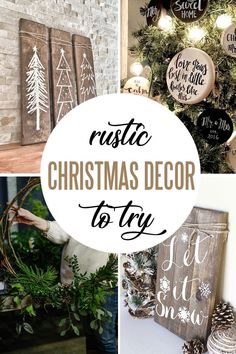 Longing for simple rustic décor this holiday season? Maybe, it is nostalgia for those simple days spent in grandparents' cabin in the woods or longing for natural beauty and warmth of wood, intriguing textures of knitted wool, little pleasures of imperfect nature finds – we all agree that rustic decor feels right in our homes at Christmas. Check out our collection of 21 ideas from our favorite creators. #rusticDIYdecor #DIYChristmasdecor Diy Rustic Decor, Farmhouse Wall Decor, Wooden Decor, Farmhouse Style, Farmhouse Ideas, Indoor Christmas Decorations, Holiday Decor, House Decorations, Rustic Christmas