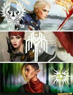 Warden, Hawke and Inquisitor Dragon Age Games, Dragon Age 2, Dragon Age Origins, Dragon Age Hawke, Dragon Art, Dragon Age Characters, The Warden, Dragon Age Series, Dragon Age Inquisition