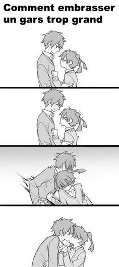 Comment embrasser un gars trop grand...... Mdrrrr