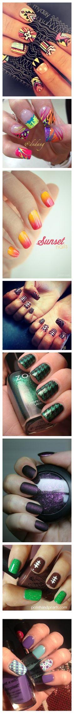 New Nail Art Ideas Tribal Simple Ideas New Nail Art, Nail Art Diy, Easy Nail Art, Cool Nail Art, Diy Nails, Great Nails, Fabulous Nails, Gorgeous Nails, Nail Polish Designs