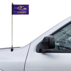 "Baltimore Ravens 4"" x 5.5"" Purple Antenna Flag, $6.99"