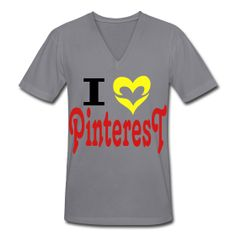 I Love Pinterest  Unisex V-Neck T-Shirt by American Apparel  Unisex V-neck jersey t-shirt, 100% cotton, Brand: American Apparel   SPECIAL NOTE: It is recommended that men order a size up and women a size down and/or pay special attention to the sizing chart.     Details   I Love Pinterest changable colours for design and product for the latest craze in pinboarding your interests