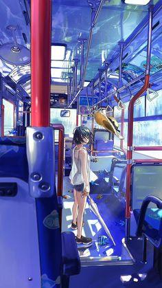"""Ryota-H@バハヘッズ第一巻7月発売さんのツイート: """"@Laxxxli バスの室内がこんなにきれいにできるとはー!!俺もキャラばっかりじゃなくて背景描かなきゃ…( ´◔‿ゝ◔';)"""""""