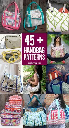 Over 45 great bags to sew! You'll love all of these! Great for all skill levels!