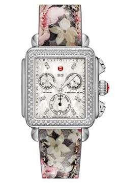 MICHELE floral watch. So cute for Spring.