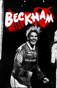 Manchester is Red! by Cristina Martinez, via Behance beckham