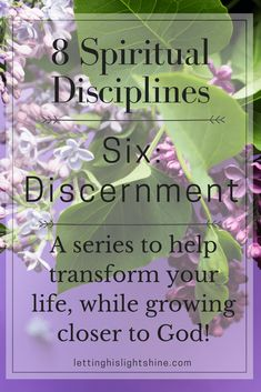 8 Spiritual Disciplines: Seven-Discernment. If you desire the ability to distinguish God's voice from all others in your life, then check out this post! Start growing closer to God, and transforming your life today! #spiritualdisciplines #discernment #growclosertogod #transformyourlife #lettinghislightshine