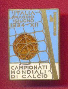 1934 FIFA Soccer World Cup Official Pin Badge Football Soccer Calcio Italy Italia 27x19  | eBay