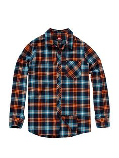 BTK1Octopus Soup Long Sleeve Flannel Shirt by Quiksilver - FRT1