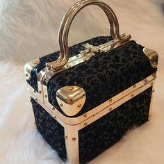 Vintage Borsa Bella Flocked Trunk Bag by MyEcleticStyle on Etsy https://www.etsy.com/listing/294871291/vintage-borsa-bella-flocked-trunk-bag